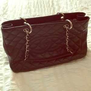 Authentic CHANEL Quilted Caviar Tote
